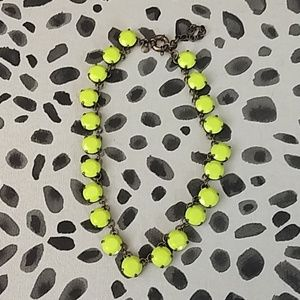J Crew neon yellow necklace